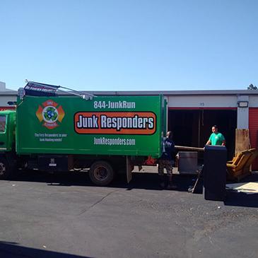 Junk Responders Unloading Truck